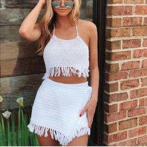 White Crochet Beach Co-Ord